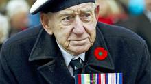 A Second World War veteran takes part in Remembrance Day ceremonies at Queen's Park in Toronto on Nov. 11, 2011. (Nathan Denette/Nathan Denette/The Canadian Press)