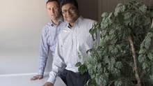 Dan Poole, left, and Pramod Udiaver, the co-founders of Invisor. They met in a Queen's University accelerated MBA course in 2005, and decided to strike out on their own after realizing they shared a mutual frustration over the motivation behind some financial advice. (J.P. MOCZULSKI for The Globe and Mail)