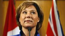 Premier Christy Clark, whose officials had initially agreed to the date of the meeting, said Monday she could not attend because she has to be in Victoria to defend the financial operation of her office during a legislature debate. (Chad Hipolito For The Globe and Mail/Chad Hipolito For The Globe and Mail)