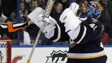 St. Louis Blues goalie Jaroslav Halak. (AP Photo/Jeff Roberson) (Jeff Roberson/AP)