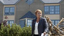 Parti Quebecois Leader Pauline Marois walks to a news conference during a campaign stop Tuesday, August 7, 2012 in Sainte-Anne-des-Monts Que. (Jacques Boissinot/THE CANADIAN PRESS)