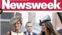The cover of Newsweek magazine imagines what Diana would look like at 50. (AP/Newsweek)