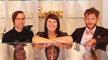 From left to right Jacob Pelletier, Giselle Courteau and Garner Beggs, owners of Edmonton's Duchess Bake Shop (Amanda Gallant and Aaron Pederson)