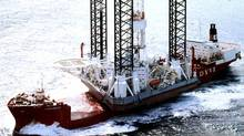 "The ""Kolskaya"" oil drilling rig is seen in the Sea of Okhotsk in this undated handout photo. The oil drilling rig with 67 crew on board capsized and sank off the Russian far eastern island of Sakhalin on Sunday when it ran into a storm while being towed, leaving 49 of the crew unaccounted for, the regional Emergencies Ministry said. (Arktikmorneftegazrazvedka/REUTERS/Arktikmorneftegazrazvedka/REUTERS)"