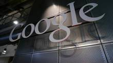 A Google sign inside Google headquarters in Mountain View, Calif., June 18, 2007. (Paul Sakuma/AP)