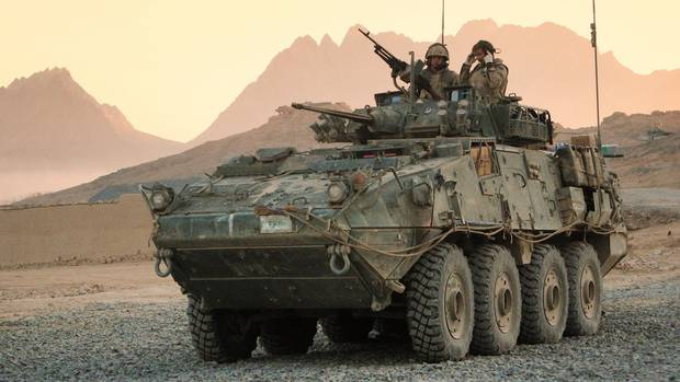 A Canadian LAV III (light armoured vehicle) seen here in use in Afghanistan in this 2006 file photo.