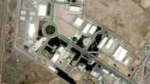 This satellite image shows Iran's uranium-enrichment facility at Natanz. (AP Photo/GeoEye Satellite Image)