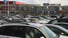 Parking congestion at Toronto's Yorkdale Mall. In response to Metrolinx's recent report, leading voices from Canada's real estate industry say that a parking levy on free parking would be a hidden tax payable by tenants of shopping centres, offices and industrial facilities and not by users. (Charla Jones/The Globe and Mail)