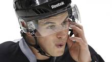 Pittsburgh Penguins' Sidney Crosby takes part in hockey practice in Pittsburgh, Wednesday, April 13, 2011. Followers of the game of hockey are known to rattle off statistics on goals scored and penalty minutes, but a new study of NHL concussions introduces a more sobering set of figures and charts to fans on the consequences when their hockey heroes. like Crosby, take hits to the head. THE CANADIAN PRESS/AP-Gene J. Puskar (Gene J. Puskar/CP)