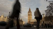 Britain's Houses of Parliament are pictured in London, on Februrary 4, 2010. (BEN STANSALL/AFP/Getty Images)