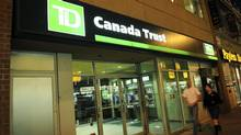 A TD Canada Trust branch in Toronto in June, 2008. (Kevin Van Paassen/The Globe and Mail)