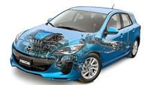 Upcoming Mazda3 with SkyActiv components. (Mazda)