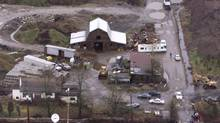 Pickton's farm in Port Coquitlam, B.C., Feb. 7, 2002. (Richard Lam/CP)