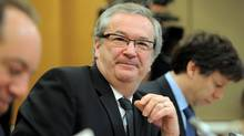 Chief Electoral Officer Marc Mayrand appears as a witness at a Commons house affairs committee in Ottawa on Thursday, March 29, 2012 to discuss allegations of wrong-doing during the 41st General Election. (Sean Kilpatrick/The Canadian Press)