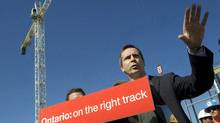 Ontario Premier Dalton McGuinty's Liberals are rolling out their election platform over the Labour Day long weekend. (Frank Gunn/The Canadian Press)