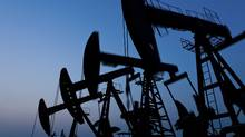 Silhouette of oil pump jack (hanhanpeggy/Getty Images/iStockphoto)