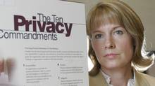 Elizabeth Denham is shown in 2005 when she was director of Alberta's Personal Information Privacy Act. (Mike Sturk/The Globe and Mail)