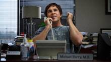 """In this image released by Paramount Pictures, Christian Bale appears in a scene from """"The Big Short."""" The movie opens in U.S. theaters on Dec. 23, 2015. (Jaap Buitendijk/AP)"""