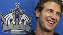 Los Angeles Kings Mike Richards is introduced during a hockey news conference, Wednesday, July 27, 2011, at the Toyota Sports Center in El Segundo, Calif. Richards was acquired from the Philadelphia Flyers in exchange for Wayne Simmonds, Brayden Schenn and a 2012 second-round draft pick. (AP Photo/Damian Dovarganes) (Damian Dovarganes/AP)