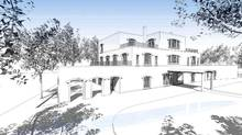 The first sketch of the proposed residence for the Iraqi ambassador in Ottawa's Rockcliffe Park neighbourhood. (Julian Jacob Architects)