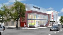 Artist's rendering of the proposed signage York Theatre in Vancouver.
