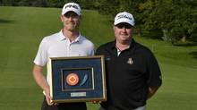 Greg Machtaler with tournament ambassador and PGA Tour player Brad Fritsch (Canadian Armed Forces/PGA Tour Canada)