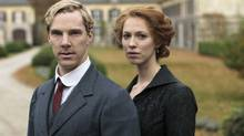 Benedict Cumberbatch and Rebecca Hall in Parade's End. (Nick Briggs/AP/HBO)