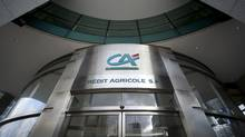 Crédit Agricole has shelved its 2014 financial goals and eliminated its dividend for this year to preserve capital. (Lionel Bonaventure/AFP/Getty Images/Lionel Bonaventure/AFP/Getty Images)