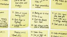 Grid of sticky notes with To Do lists on them. (iStockphoto)