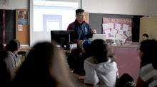 Zhi Su, John Oliver Secondary School's Technology Director and teacher, teaches students about using the google calendar at John Oliver Secondary School in Vancouver, British Columbia, Tuesday, Feb. 14, 2012. (Rafal Gerszak for The Globe and Mail/Rafal Gerszak for The Globe and Mail)