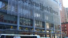 The New York Times Building in Midtown Manhattan. (Nightscream/via Wikimedia Commons)