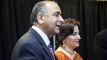 Harinder Takhar (left), minister of govt services for Ontario. (Della Rollins/Della Rollins for the Globe and Mail)