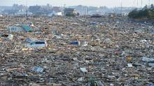 Debris cover a large area in Natori, Japan, near Sendai in Miyage prefecture on March 13, 2011 after the March 11 earthquake and tsunami. (Mike Clarket/AFP/Getty Images/Mike Clarket/AFP/Getty Images)