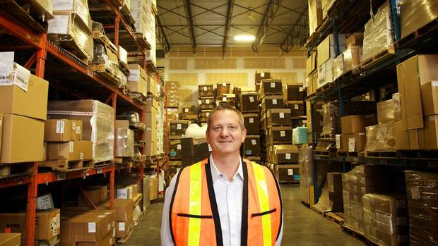 James Palmer is the vice-president of sales and marketing with the Great Little Box Company Ltd. He supervises a team of 14 salespeople in Western Canada and Washington state. (Ian MacKenzie/The Globe and Mail)
