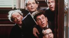 Ghostbusters. Harris Yulin (Judge Stephen 'The Hammer' Wexler), Bill Murray (Dr. Peter Venkman), Dan Aykroyd (Dr. Raymond Stantz), Harold Ramis (Dr. Egon Spengler), Rick Moranis (Louis Tully)
