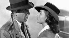 Humphrey Bogart -- in a Burberry trench coat -- and Ingrid Bergman in a scene from the 1943 film Casablanca. (AP)