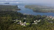 Pacific NorthWest LNG, led by Malaysia's state-owned Petronas, is considering footing the bill to construct the marine terminal in exchange for gaining access to Shell Canada Ltd.'s development rights on Ridley Island and nearby waters. (handout)