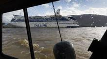 The Delta Spirit Lodge cruise ship has sailed to Kitimat to house temporary workers upgrading Rio Tinto Alcan's smelter. (John Lehmann/The Globe and Mail)