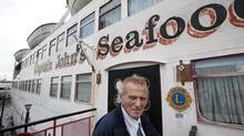 John Letnik, owner of Captain John's Seafood restaurant and the ship it is housed in, doesn't intend to leave his property behind. (Deborah Baic/The Globe and Mail)