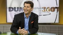 Former ADQ Leader Mario Dumont sits on the set of his new current affairs television show Monday, August 31, 2009 in Montreal. (Paul Chiasson/THE CANADIAN PRESS)