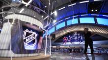 Rogers Sportsnet unveiled their new broadcast studio of the upcoming NHL hockey season, during a media tour at the CBC building in Toronto on Sept 29 2014. (Fred Lum/The Globe and Mail)