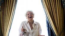 """Actress Elaine Stritch poses for a photograph for the documentary """"Show Stopper: The Theatrical Life of Garth Drabinsky"""" during the 2012 Toronto International Film Festival in Toronto on Tuesday Sept. 11, 2012. (Michelle Siu/THE CANADIAN PRESS)"""