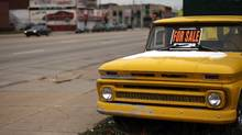 A old Chevrolet truck stands for sale in a lot in Detroit (Spencer Platt/2008 Getty Images)