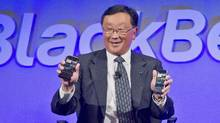 BlackBerry says it plans to end all internal hardware development, signalling a strategic shift for a company that built its reputation on innovative smartphone technology created at its base in Waterloo, Ontario. (Bebeto Matthews/THE ASSOCIATED PRESS)