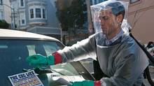Jude Law stars as Alan Krumwiede in the thriller Contagion. (Claudette Barius)