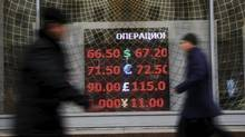 Russia's recession isn't even over but you wouldn't know it by looking at the nation's financial markets. (MAXIM ZMEYEV/REUTERS)