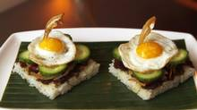 The reconstructed Nasi Lemak (Fernando Morales/The Globe and Mail)