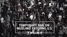 A screenshot from Donald Trump's campaign ad. The opening 2016 primary contest is four weeks away.