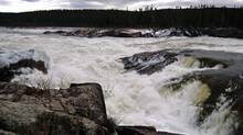 Newfoundland says the new price tag for the proposed Muskrat Falls hydroelectric project in Labrador includes higher capital costs for improvements such as the design of the dam and powerhouse, and stronger transmission towers. (GREG LOCKE/REUTERS)