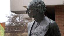 Statue of Sir John A. Macdonald, Canada's first prime minister, outside Victoria's city hall. (Diana Nethercott/Diana Nethercott for The Globe and Mail)